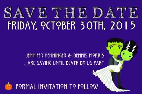 Save the Date for a Halloween-Themed Wedding