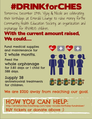 Infographic for Charity Birthday Event