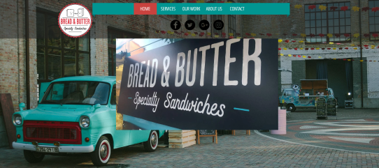 Bread and Butter's Website Design